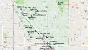 Little Italy San Francisco Map north Beach San Francisco Things to Do In Little Italy