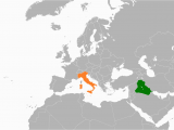Location Of Italy On World Map Iraq Italy Relations Wikipedia
