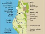 Lost Coast California Map Travel Info for the Redwood forests Of California Eureka and