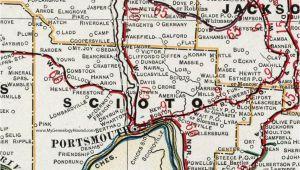 Lucasville Ohio Map Scioto County Ohio 1901 Map Portsmouth New Boston Sciotoville