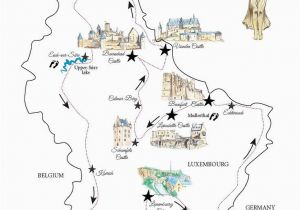Luxembourg On Map Of Europe A Road Trip In Luxembourg Free Printable Map for A Great