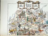 Madrid Spain World Map Vintage Spain Map Showing Madrid Spain and toledo Travel Wall