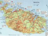 Malta On Europe Map Map Over Malta and Comino Big Map with Interesting Places
