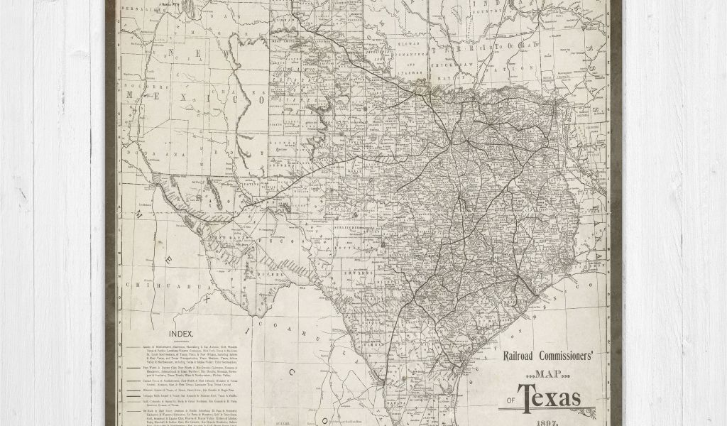 Map 0f Texas.Map 0f Texas Map Of Texas Texas Canvas Map Texas State Map Antique
