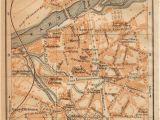 Map Albi France 1914 Albi France Antique Map Vintage Lithograph Tarn