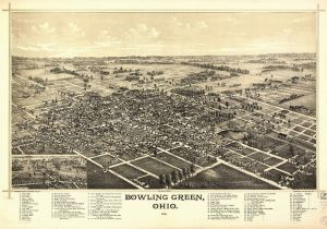 Map Bowling Green Ohio Ohio Vintage Panoramic Maps Collection On Cd Ebay
