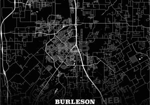 Map Conroe Texas Black Map Poster Template Of Burleson Texas Usa Hebstreits Sketches