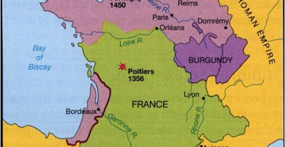 Map Eastern France 100 Years War Map History Britain Plantagenet 1154