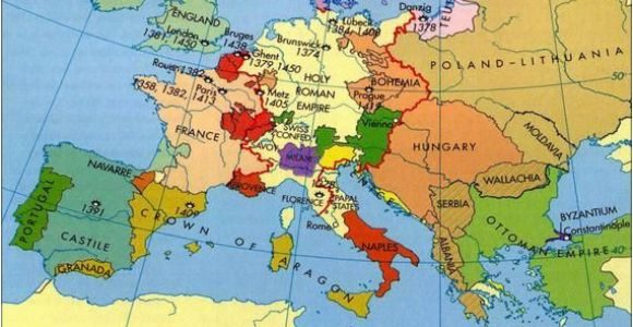 Map Europe 1400 Europe In the Middle Ages Maps Map Historical Maps Old