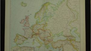 Map Europe 1913 Europe Old Map Of Europe Large 1887 original by Vintageoldmaps