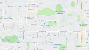 Map Ft Collins Colorado fort Collins Co Map New Rams Crossing Campus fort Collins Co Maps