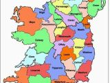 Map Ireland Counties towns Map Of Ireland Ireland Map Showing All 32 Counties