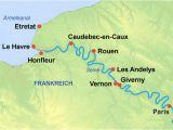 Map Le Havre France 8 Tage Seine Schiffsreise Paris normandie Paris Mit