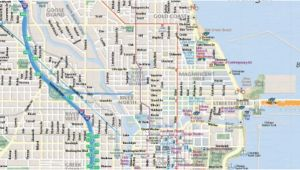 Map Michigan Avenue Chicago Map Of Chicago Interactive and Printable Maps wheretraveler