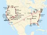 Map My Route Canada Der Groa E Amerikanische Road Trip Von Los Angeles Nach New