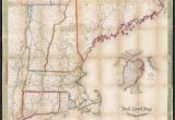 Map New England Highway File Telegraph and Rail Road Map Of the New England States