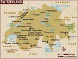 Map northern Italy and Switzerland Map Of Switzerland