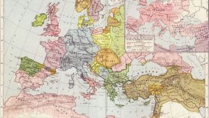 Map Oc Europe A Map Of Europe In 1097 Ad the Time Of the First Crusade