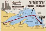 Map Of Adrian Michigan 41 Years Ago Edmund Fitzgerald Sank In Lake Superior Great Lakes