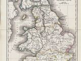 Map Of Ancient England 1825 Antique Map Of Ancient Great Britain original Antique Map
