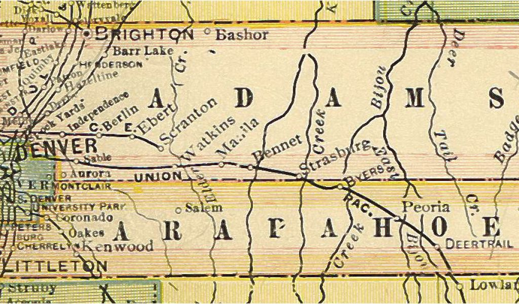 Map Of Arapahoe County Colorado Colorado County Map Travel Maps and