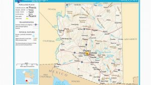 Map Of Arizona Counties and Major Cities Maps Of the southwestern Us for Trip Planning