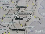 Map Of Arizona Sedona Access Via Long Canyon Road Bild Von Devil S Bridge Trail Sedona