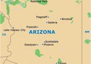 Map Of Arizona Including Sedona.Map Of Arizona Showing Sedona A Map Of Southern Utah And Northeast