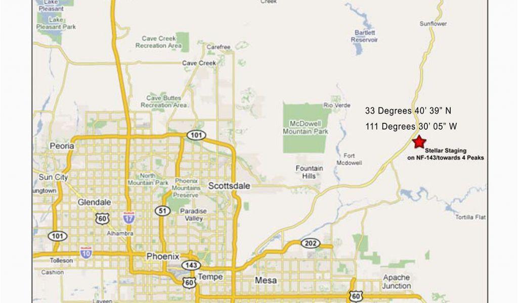 Map Of Arizona Tempe Map Of Scottsdale Az Beautiful Arizona ...
