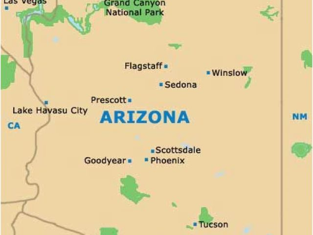 Map Of Arizona And Grand Canyon.Map Of Arizona With Grand Canyon Those Looking For Tourist