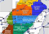 Map Of Arkansas and Texas Maps Maps and More Maps Of the Ozarks Ouachita Mountains