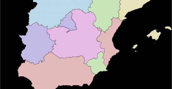 Map Of Autonomous Regions Of Spain Autonomous Communities Of Spain Wikipedia
