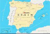 Map Of Autonomous Regions Of Spain Spain Map Stock Photos Spain Map Stock Images Alamy