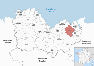 Map Of Bretagne Region France Kanton Plancoet Wikipedia