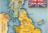 Map Of Britain and France Postcard A La Carte 2 United Kingdom Map Postcards Uk Map Of