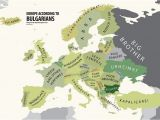 Map Of Bulgaria In Europe Europe According to Bulgaria Print Euro asian Maps Funny