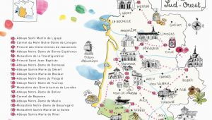 Map Of Cahors France Caroline Donadieu Guide Des Abbayes south West France