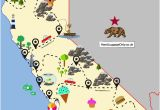 Map Of California Campgrounds the Ultimate Road Trip Map Of Places to Visit In California Travel