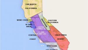 Map Of California Desert Region Best California State by area and Regions Map