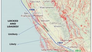 Map Of California Earthquake Fault Lines Us Map Earthquake Fault Lines Fault Lines Awesome Map San andreas