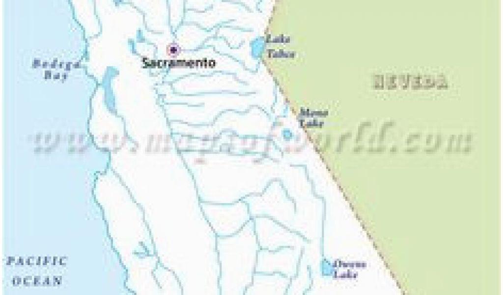 Map Of California Rivers and Lakes Montana Mountain Ranges ...