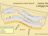 Map Of Campsites In France Map Of Santa Rosa Campground In Carpinteria State Beach Ca