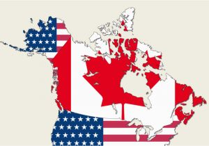 Map Of Canada and Usa with Provinces and States is Canada Part Of the Us Worldatlas Com