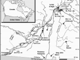 Map Of Canada St Lawrence River Map Of Localities In the St Lawrence River Basin In southern