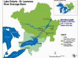 Map Of Canada St Lawrence River Map Of Loslr Drainage Basin source Map Courtesy Of the Ijc