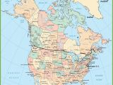 Map Of Canada with Cities and Capitals Usa and Canada Map