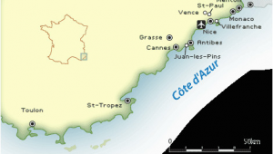 Map Of Cannes France and Surrounding area French Riviera Map and Guide