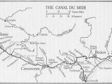 Map Of Carcassonne France Canal Du Midi Wikipedia