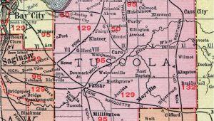 Map Of Caro Michigan Tuscola County Michigan 1911 Map Rand Mcnally Caro Cass City