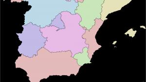 Map Of Catalonia Region Of Spain Autonomous Communities Of Spain Wikipedia